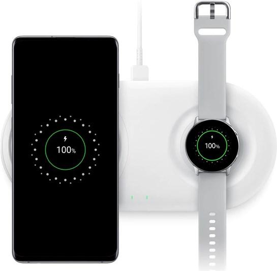 Wireless Charger Duo mit Travel Adapter (Schnellladefunktion