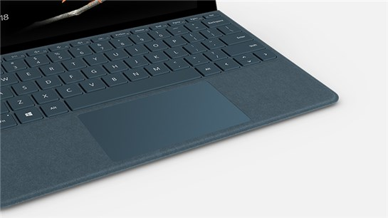 Closeup view of a Surface Go Signature Type Cover